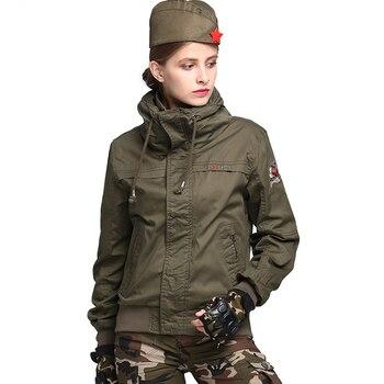 160375e9ad3 Chaqueta estilo militar 2019 nueva llegada Mujer verde del ejército más  grueso de cuello alto chaqueta Chaquetas Mujer Chaquetas con Epaulette Wq917