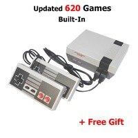 NEW Dois Botões Mini TV Jogo Handheld Console de Vídeo Game Console para Nes Jogos com 620 Construído em Jogos clássicos de PAL e NTSC