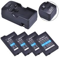 4Pcs 3.6V 2400mAh PSP 2000 Batterie + Caricabatteria Kit per Sony PSP2000 PSP3000 Console
