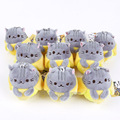 Cute Lovely Pusheen Cat Plush Pendant Toys Soft Stuffed Animal Dolls with keychain 10pcs/lot 8cm