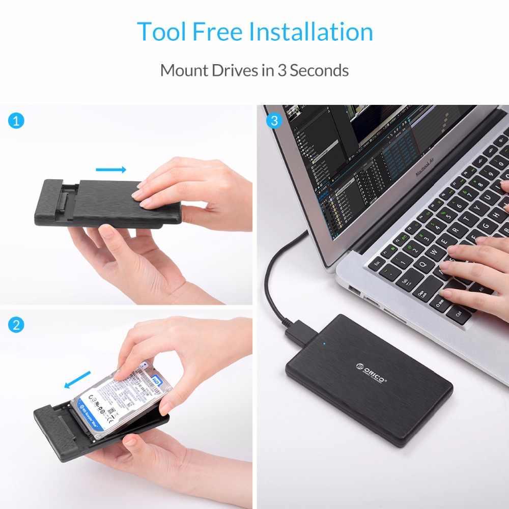 ORICO 2.5 Inch SATA Sang USB 3.0 HDD Ốp Lưng USB3.0 MicroB Ngoài Đĩa Kèm Cao Cấp UASP SSD Dành Cho Ổ Cứng WD Seagate