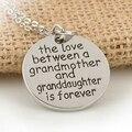 El Amor Entre una Abuela y Su Nieta es Siempre el Corazón Colgante de Collar de Cadena para la Familia Mejor Regalo de La Joyería
