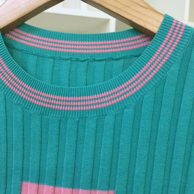 Cinq T Tricoté Noir D'été Top Crochet Femme Vert Nombre Tee 7 Shirts Manches Courts Courtes Balance Bébé 3 Noir Hauts vert xIPgqnw