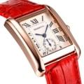 2017 Luxo New lady Mulheres Quartz Watch Vestido Moda Casual Mulheres Relógios Algarismos Romanos Pulseiras Relógios Quadrados