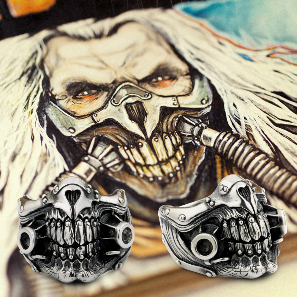 MAD MAX Immortan Joe Ring 925 Sterling Silver Mens Biker Skull 9Y021A MAD MAX Immortan Joe Ring 925 Sterling Silver Mens Biker Skull 9Y021A
