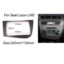 CT-CARID Двойной 2 Дин Фризовая Для Seat Leon LHD Радио GPS стерео Радио Панель Даш Монтаж Монтаж Комплектация Комплект Лица Шатона Рамки