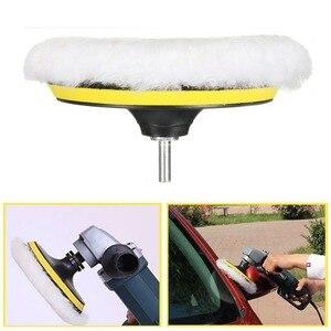 Image 4 - Kit de tampons de polissage pour voiture, 4/5/6/7 pouces (5 tampons de polissage + 1 tampon en laine + 1 tampon de support adhésif)