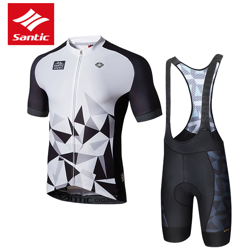 Santic Brand Cycling Set 2017 Top Pro Team Men Cycling Jersey Set Breathable Cozy MTB Road Bike Bicycle Jersey Ropa Ciclismo polyester summer breathable cycling jerseys pro team italia short sleeve bike clothing mtb ropa ciclismo bicycle maillot gel pad