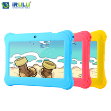 Irulu y1 babypad «android 4.4 планшет для детей quad core dual камеры google gms тест 1 ГБ ram с силиконовый чехол конфеты цвет