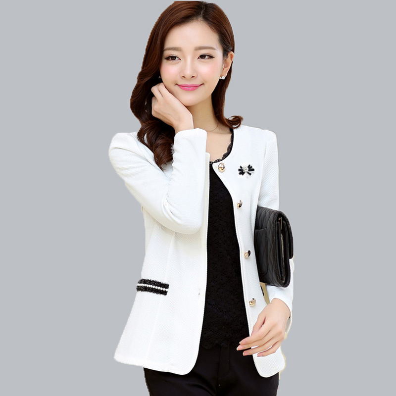 Blazer Women 2019 Corsage 4XL 5XXXXXL Plus Size Formal Lady Blazers Jackets For Woman Work Wear Coat Jaqueta Top Feminino