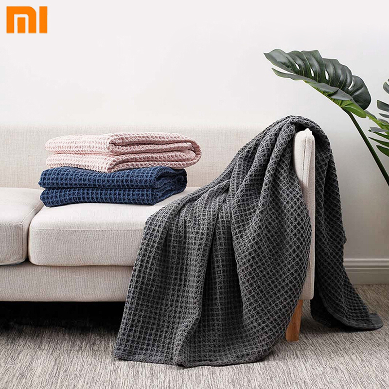 Xiaomi COMO LIVING Waffle Cotton Multifunctional Blanket Cotton Plant Dyeing Classic Waffle Mijia Air Conditioning Blanket