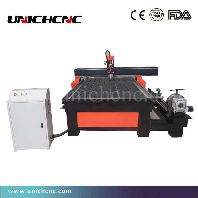 Jinan Cheap 1500*3000mm Rotary Side Cnc Router Cutting Wood