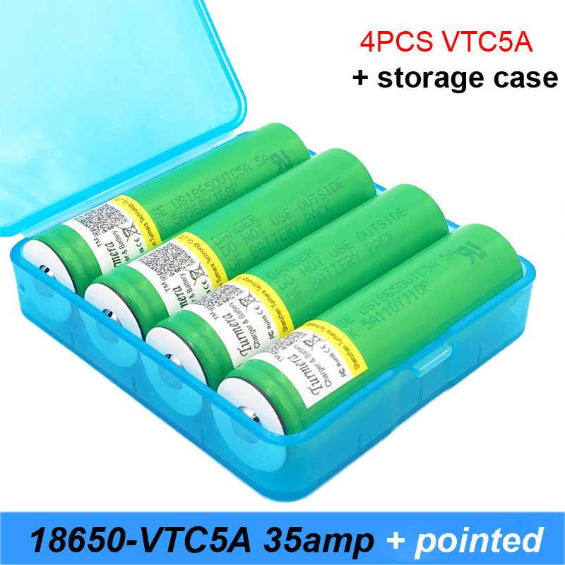 VTC5A TMax 40A Xung 60A Xả Original 3.6 V US18650VTC5A với nhọn KHÔNG CÓ PCB 2600 mAh Cống Cao 40A Pin cho E-thuốc lá
