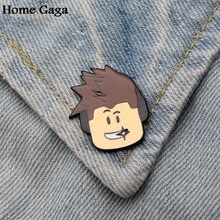 Homegaga ROBLOX diy Zinc tie cartoon Funny Pins backpack clothes brooches for men women hat decoration badges medals D1698(China)