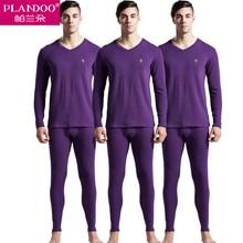 PLANDOO 2017 Men's Thermo Underwear Cotton Sexy Men Thick Panties Set Spring Thermal Underwear Long Johns