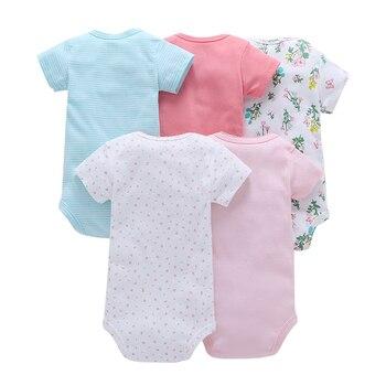 Baby bodysuit summer Body Suits Boy Girl Short Sleeve Clothes newborn Clothing Set fashion unisex new born costume 2019 cotton 4