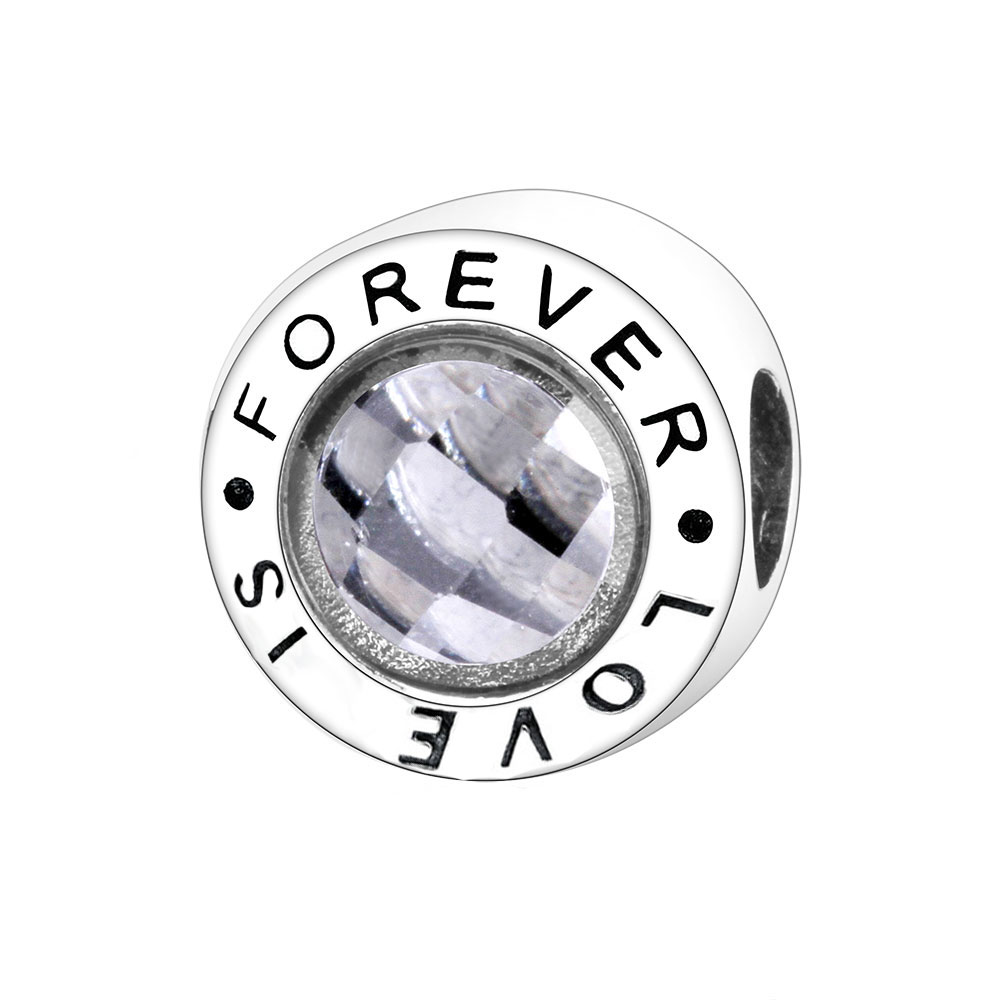 925 Sterling Silver Forever Love Charms Bead Fit Original Pandora Charm Bracelets Women Romantic Gift Fashion Jewelry Berloque