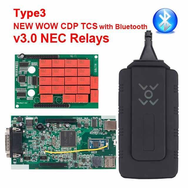 CDP TCS multidiag pro Bluetooth. R0 keygen V3.0 реле NEC obd2 сканер автомобилей грузовиков OBDII диагностический инструмент с автомобильными кабелями - Цвет: WOW CDP TCS