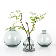 Glass  Flower Vase Transparent Water Culture Nordic Decoration