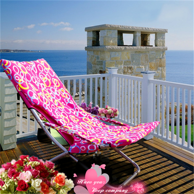 Outdoor Fashion Sun Loungers Balcony Chair Camping Folding Easy Beach Chair Breathable Portable Lazy Leisure Chair