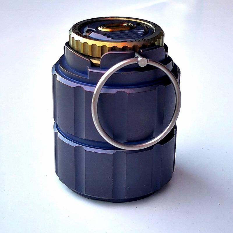 Pot en titane de bouteille de capsule étanche portable bouteille de médicament boîte de stockage réservoirs de camping en plein air outil - 4