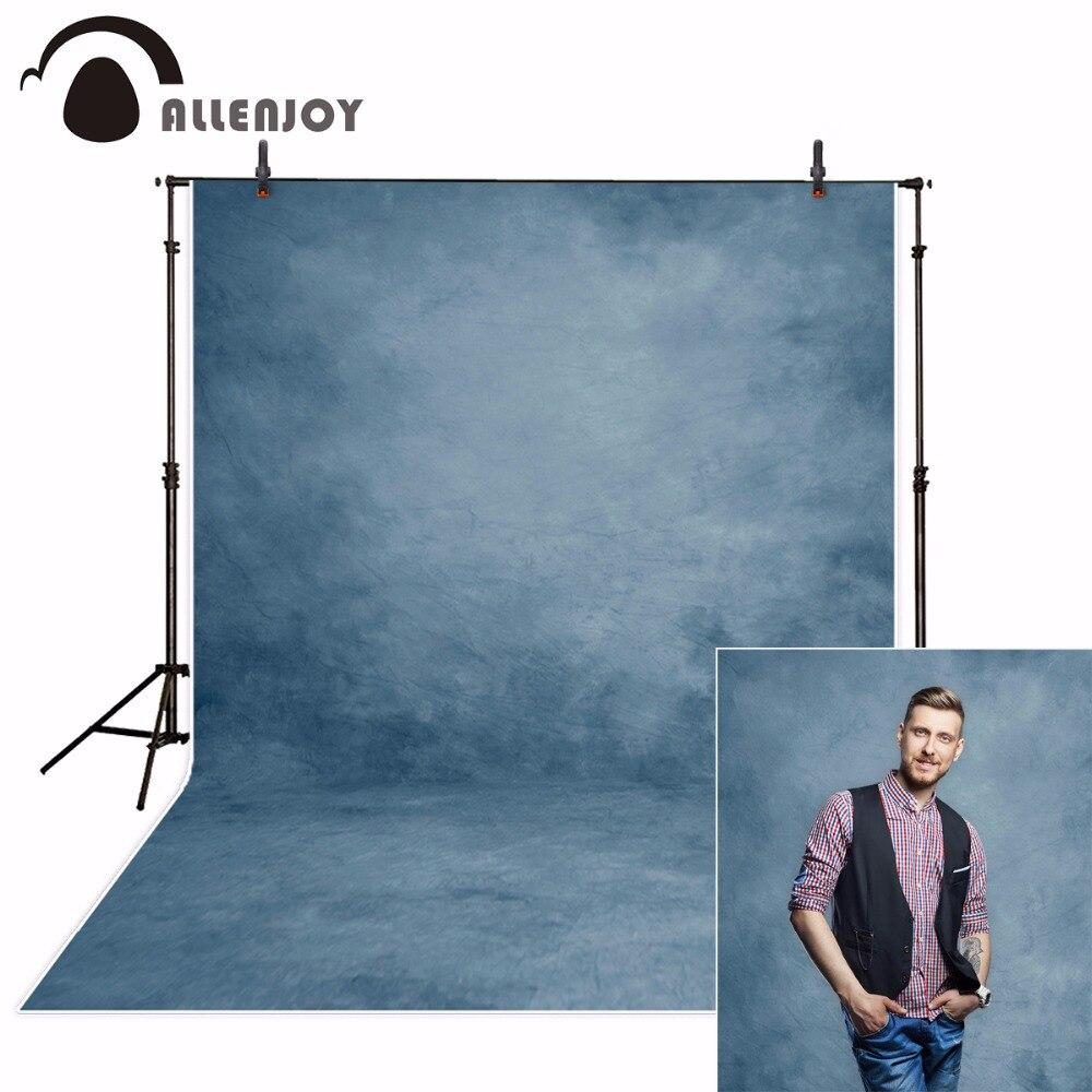 Allenjoy fondo de fotografía abstracto azul color sólido viejo maestro autorretrato estudio foto photobooth photophone