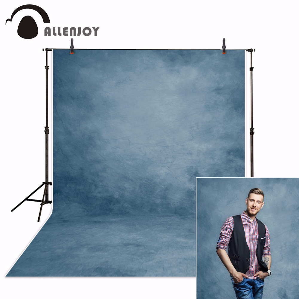 Allenjoy photography background abstract blue solid color old master self portrait backdrop studio photo photobooth photophone