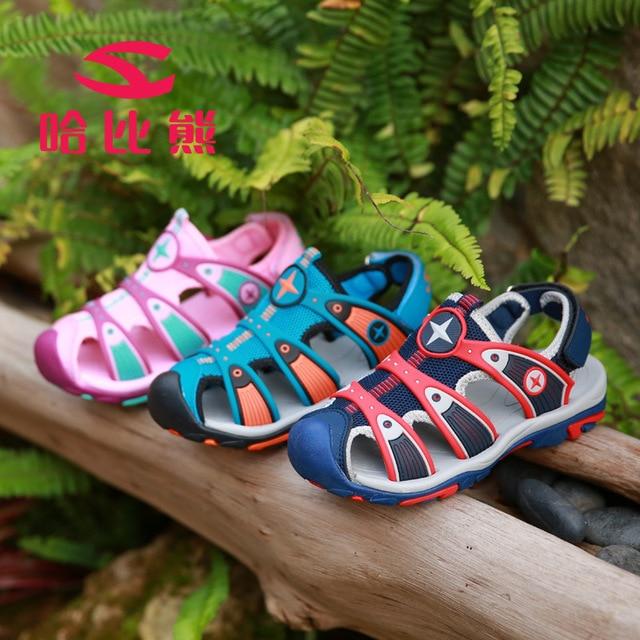 90d60dd147e5 HOBIBEAR NEW 2017 Summer Kids Sandals Anti Collision Girls Sandals Beach  Shoes For Boys Sport