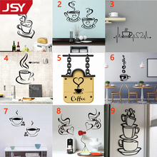 Jiangs Yu 9 Styles Kitchen Decor Letter Coffee Cup Art Wall Stickers Home Decoration Accessories Mural Wallpaper