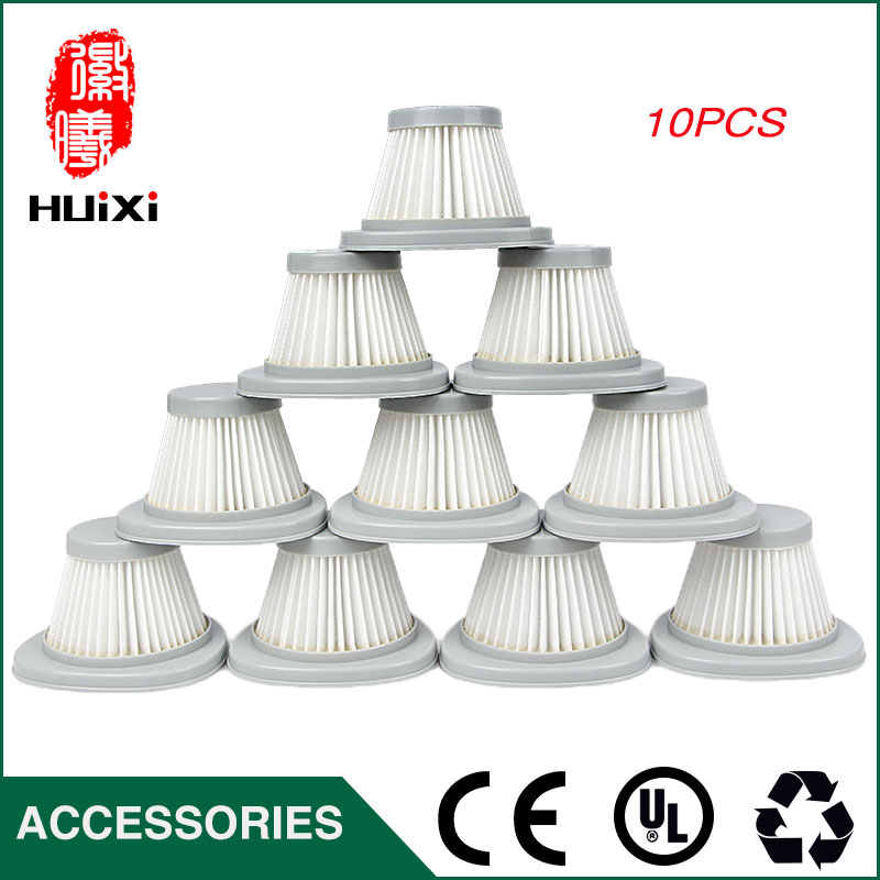 10PCS White HEPA Filter Vacuum Cleaner Accessories Filter Element For Air Filter DX118C  DX128C 10pcs hepa filter 10pcs cotton 10 pcs skiver of vacuum cleaner parts for vacuum cleaner air filter zl601r zl601a
