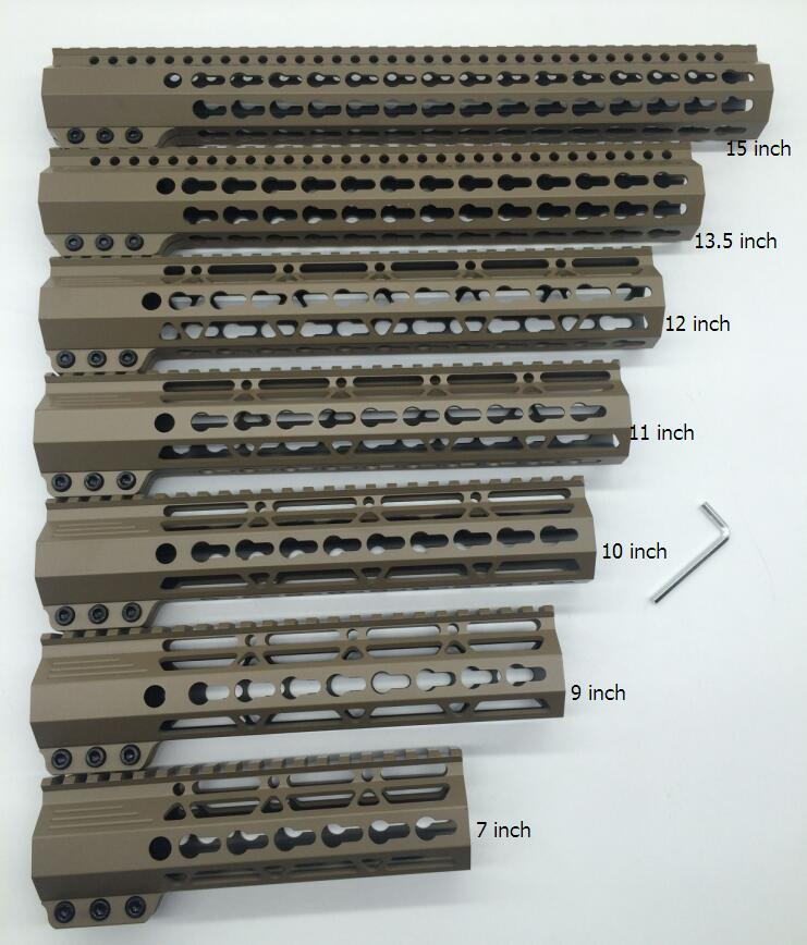 Tan Flat Dark Earth 7 9 10 11 12 13 5 15 Clamp Style Slim Handguard