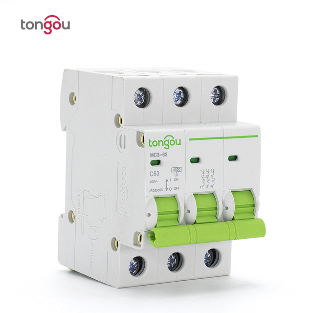 Miniature Circuit Breaker AC 400V 3P 6 63A 3 Pole Switch 50/60HZ MCB ...