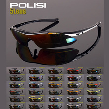 24 Colors Cycling Glasses Polarized UV400 Sports Windproof Eyewear Men Women Mountain Bike Bicycle Glasses Sunglasses 5 Lens