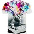 Dos desenhos animados t camisa dos homens/mulheres Moda tshirt 3d impresso T-shirt camiseta Hip hop streetwear da pintura do Artista T62