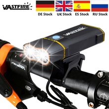 MTB 1000 LM Rechargeable Handlebar Bike Light L2 LED Front Bicycle Headlight with Built-in 6000 mAh Battery +Mount