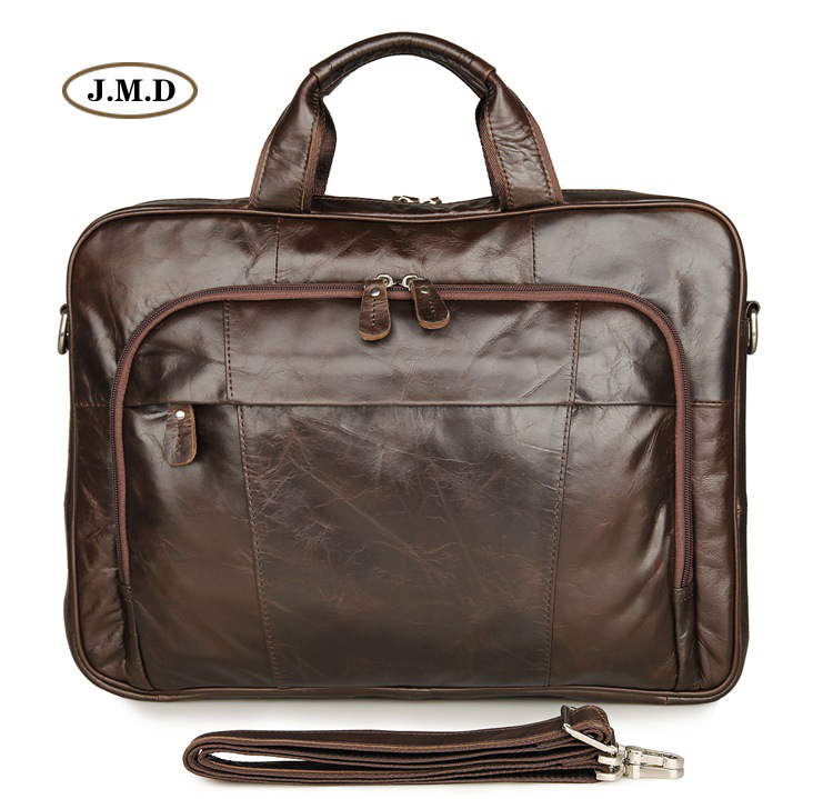New Products 100% Genuine Vintage Laptop Bag Business Briefcase Practical Classic Design Shoulder Bag Handbag 7334Q