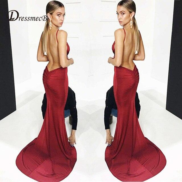 f8055739a721 DRESSMECB Sexy Deep V Neck Maxi Dress Bodycon Backless DIY Hip Design  Spaghetti Strap Dress Skinny