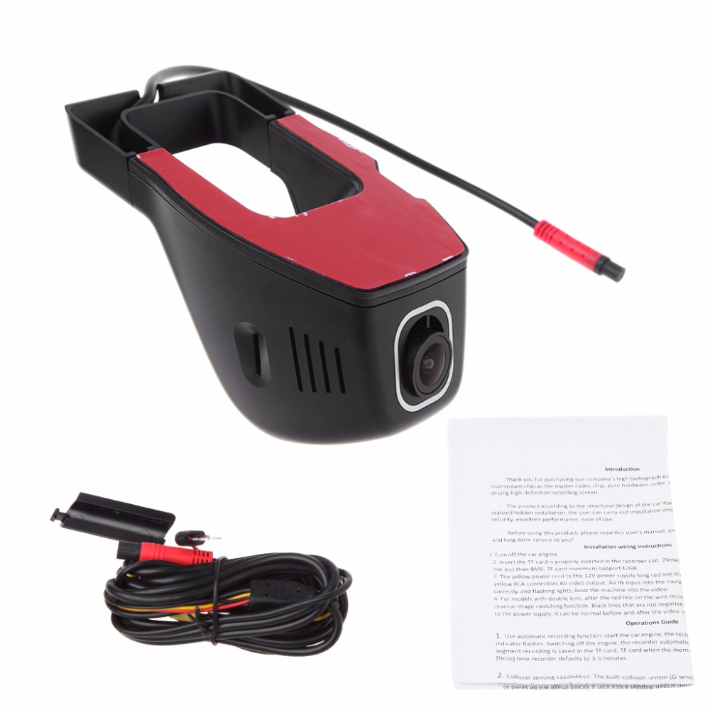 Full HD 1080P WIFI Car DVR Dash Cam Night Vision Car Camera Decor 170 Degree