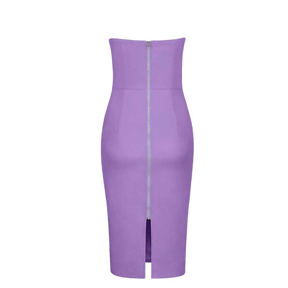 Seamyla 2019 Новое Женское летнее платье Vestidos сексуальное платье без бретелек облегающее вечернее платье Элегантное Клубное платье миди лаванды