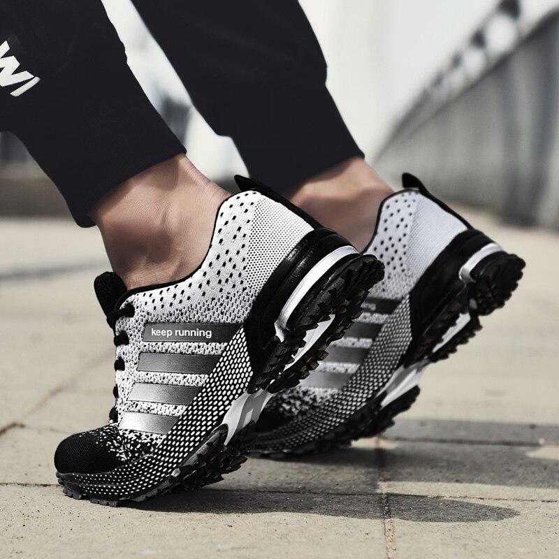 ZHENZU 2018 מכירה לוהטת שחור לבן נעלי ריצה לגברים רשת אוויר נעלי ספורט אדם חיצוני אימון סניקרס הנושם עד