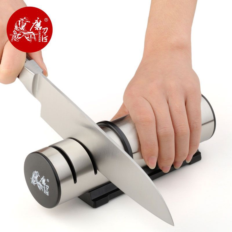 TAIDEA Brand Portable Kitchen Knife Sharpener Profesional Aksesori Dapur 3 Slots Choice Knife Grinder Whetstone T1202DC h5