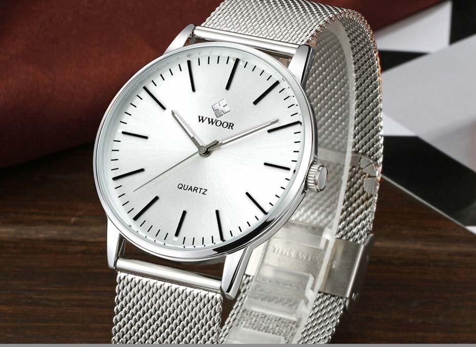 WWOOR 2019  Mens Watches Top Brand Luxury Gold Men\'s Minimalist Wrist Watches Ultra Thin Gift Watch For Men relogio masculino (15)