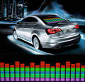 Car Sticker Music Rhythm LED Light Lamp Colorful Flash Sound Activated Equalizer EL Sheet Rear Window Sticker Cars Decoration