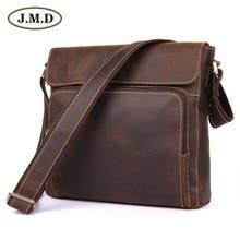 J.M.D  Fashion Crazy Horse Leather Men Messenger Bags Shoulder For Free Shipping 7051R