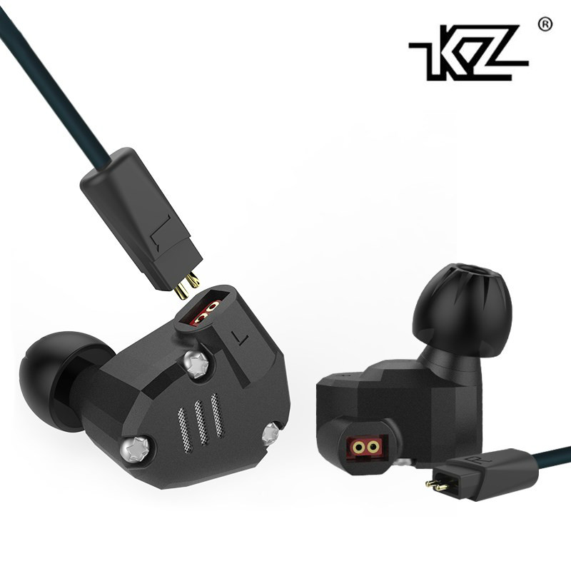 KZ ZS6 Earphone 2DD+2BA Hybrid Headset HIfi Metal Headphone In-Ear Monitor DJ Phone PC Mp3 Audio Earbuds 3.5mm Ecouteur Genuine 2017 rose 3d 7 in ear earphone dd with ba hybrid drive unit hifi monitor dj 3d printing customized earphone with mmcx interface