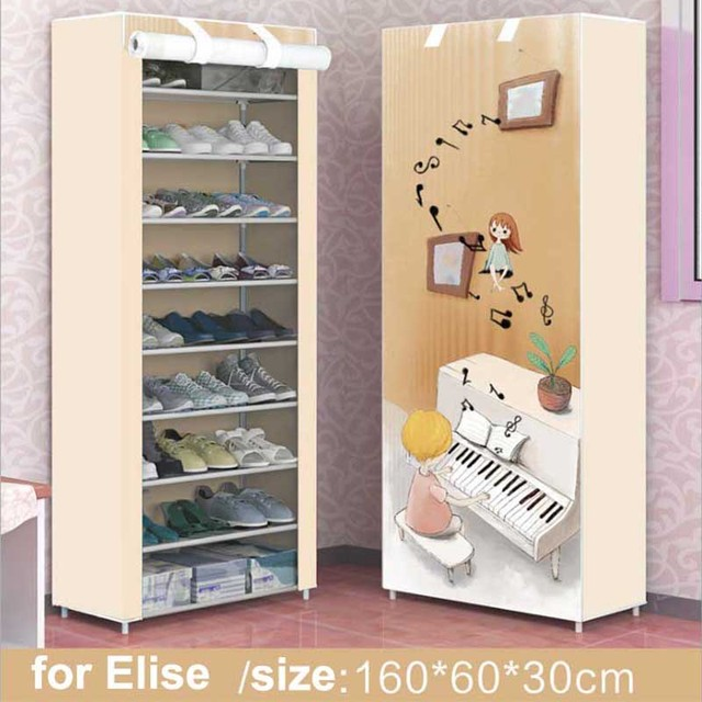 Shoe Cabinet Shoes Rack Dustu0026Moisture Proof Storage Large Capacity Home  Furniture DIY Simple 9 Layers