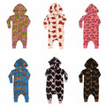 Ins hot-selling bodysuit fashion spring and autumn infant baby cotton print french fries one-piece climbing children's clothing