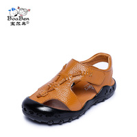 2019 Summer Children Sandals for Boys Genuine Leather Shoes Baby Boy Closed Toe Toddlers Big Kids Anti Slip Sandal Size 26 to 37