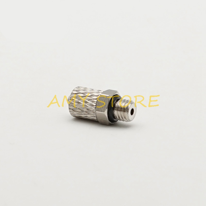 uxcell Push to Connect Tube Fitting Male Elbow 6mm Tube OD x M5 Thread Pneumatic Air Push Fit Lock Fitting Blue