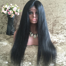 Straight Human Hair Wig Brazilian Straight High Density Glueless Lace Front Wig Natural Hairline
